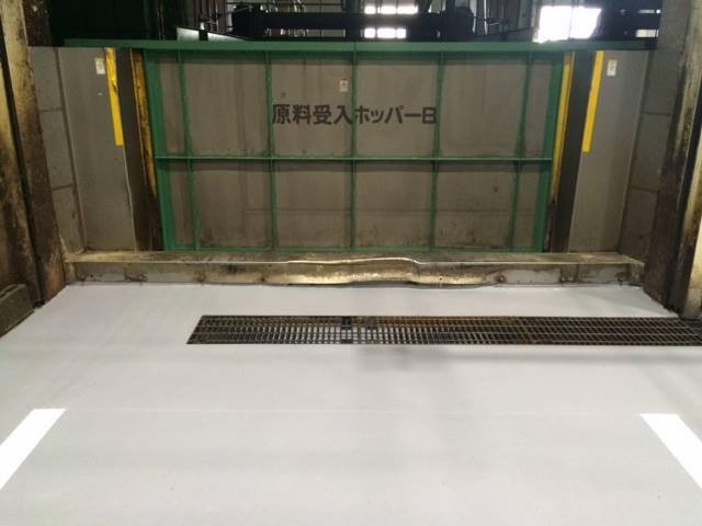 食品廃棄物リサイクル工場床施工